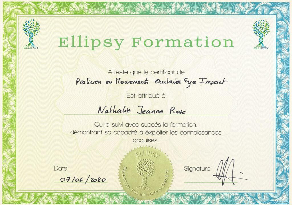 Certificat Praticien Mouvements Oculaires